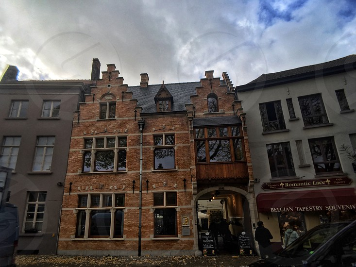 beautiful brewery in the centre of Bruge Belgium. photo