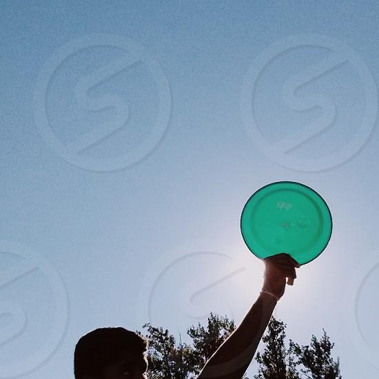 green Frisbee  photo