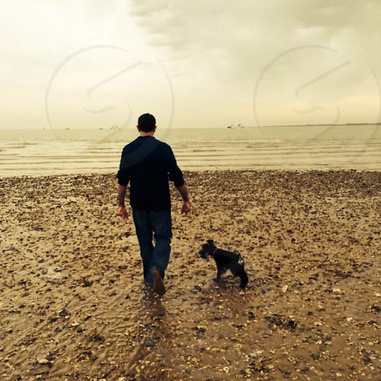 One man dog photo
