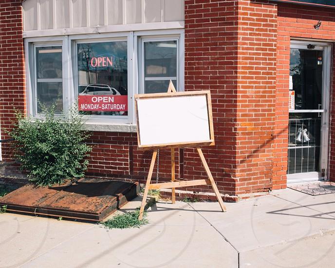 open sign on window photo