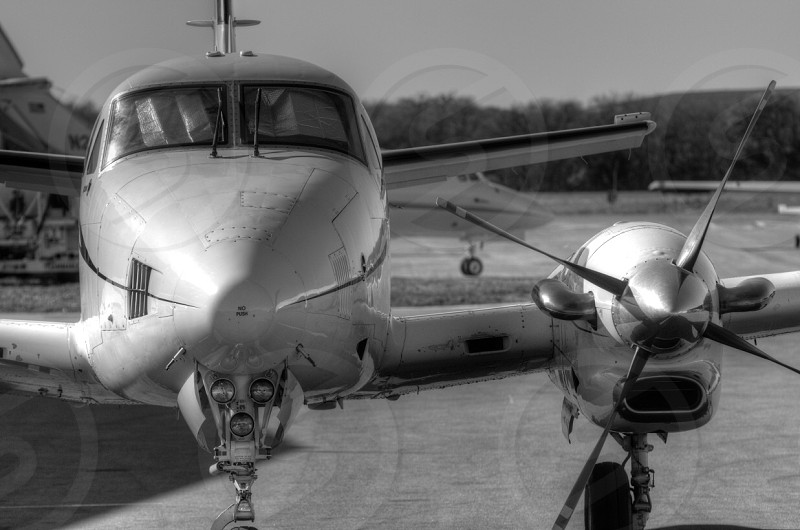 Aircraft propeller airport flight travel photo