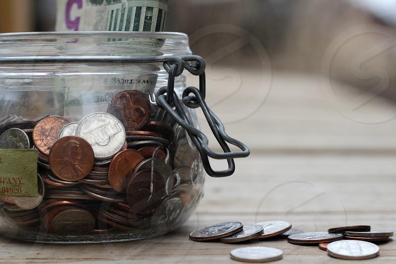 clear coin jar photo