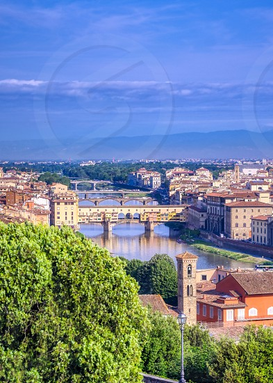 Florence Italy along the Arno River. photo