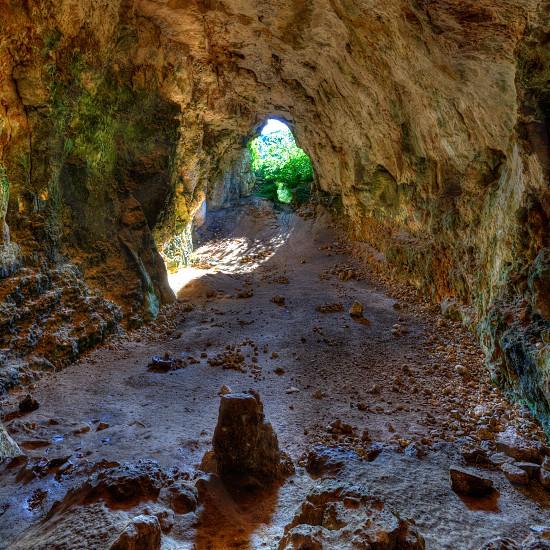 Menorca Cova dels Coloms Pigeons cave in es Mitjorn at Balearic island photo