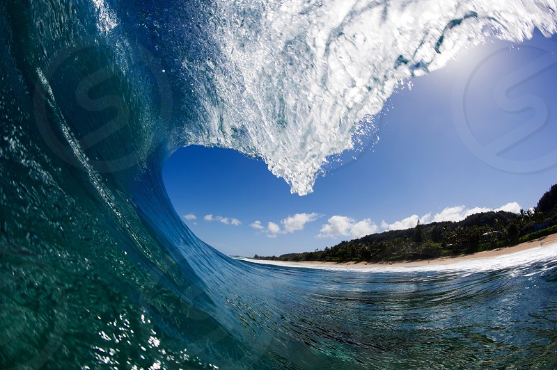 Pipeline surf surfing wave Hawaii Oahu north shore ocean pacific photo