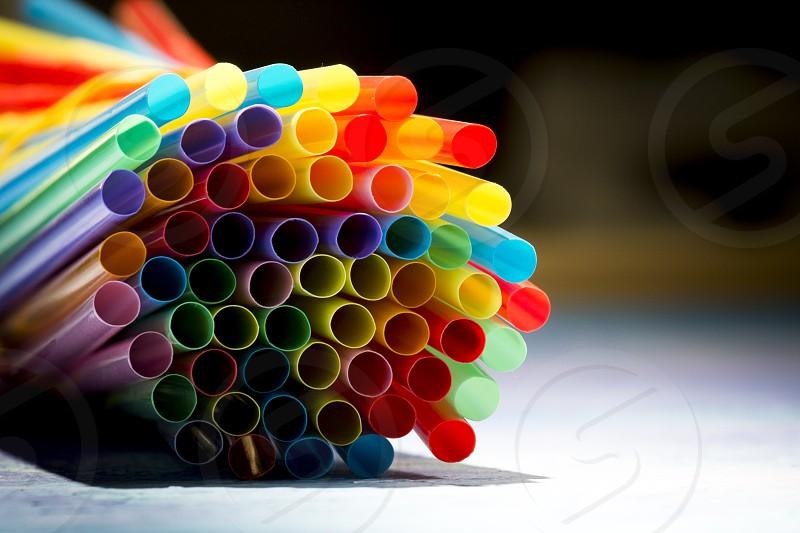 Colorful Straws photo