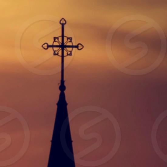 black crosslike silhouette  photo