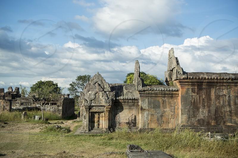 the Khmer Temples of Prsat Preah Vihear north of the town Sra Em in the province of Preah Vihear in Northwest Cambodia.  Cambodia Sra Em November 2017 photo