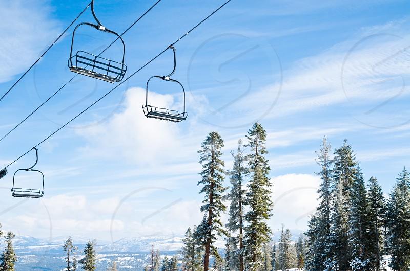 Chair lifts at Northstar resort photo