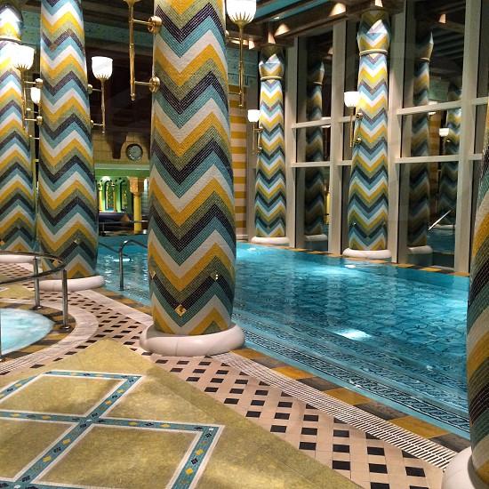 burj al arab swimming pool Dubai photo
