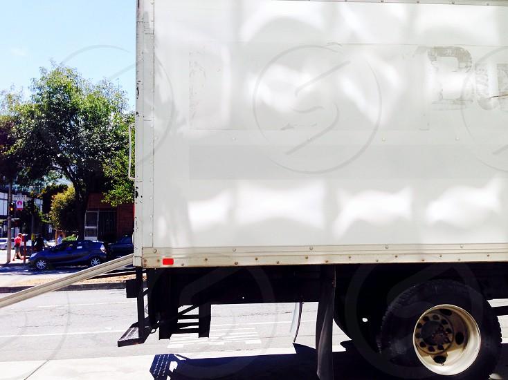 white box truck photo