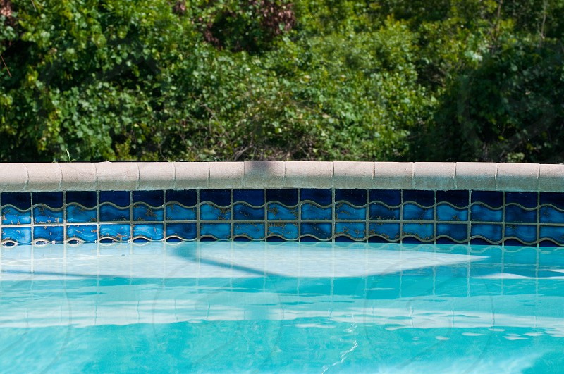 blue wavy tiles photo