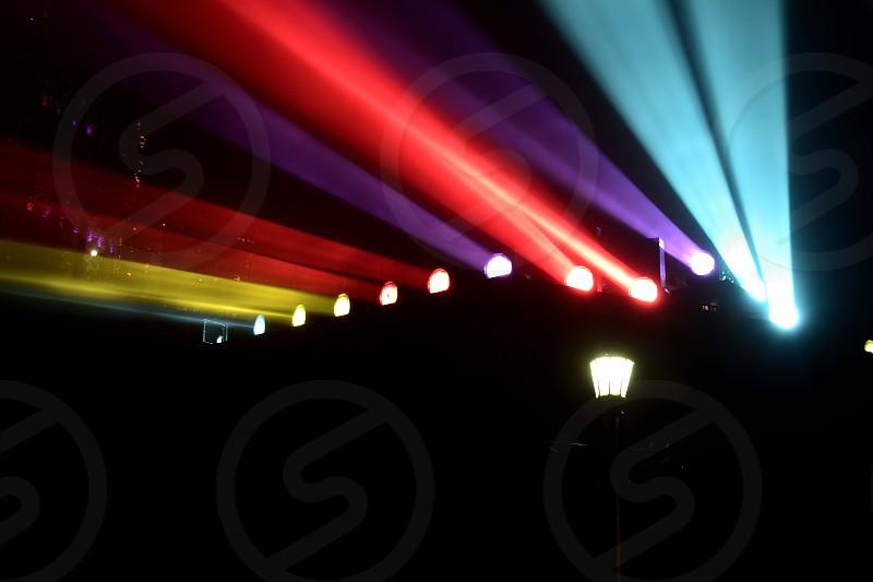 Colorful Lights at Niagara Falls photo