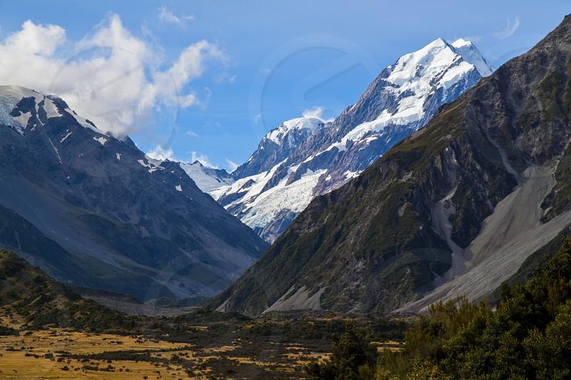 Mount Cook in the Aoraki/Mount Cook National Park New Zealand. photo