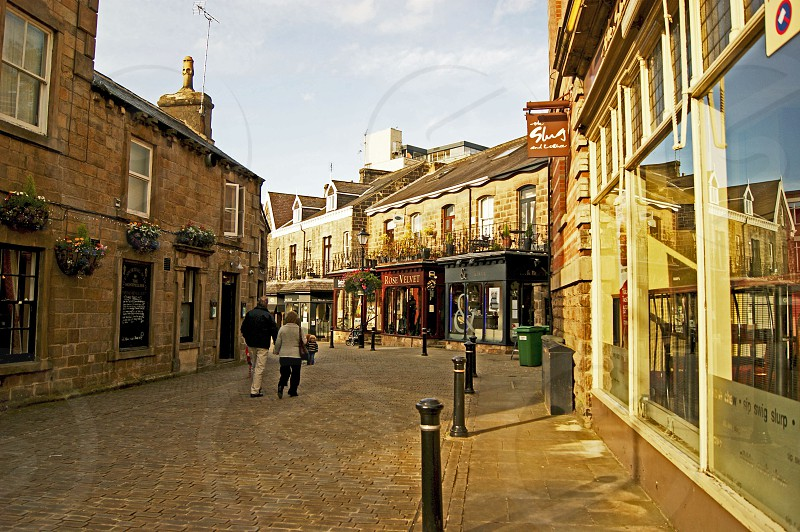 UK. ENGLAND. HARROGATE Yorkshire.  Montpellier Street in the town centre. photo