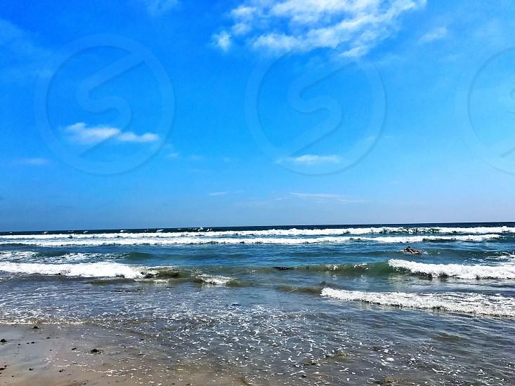 Ocean beach water sand shore California Southern California SoCal San Diego coast photo