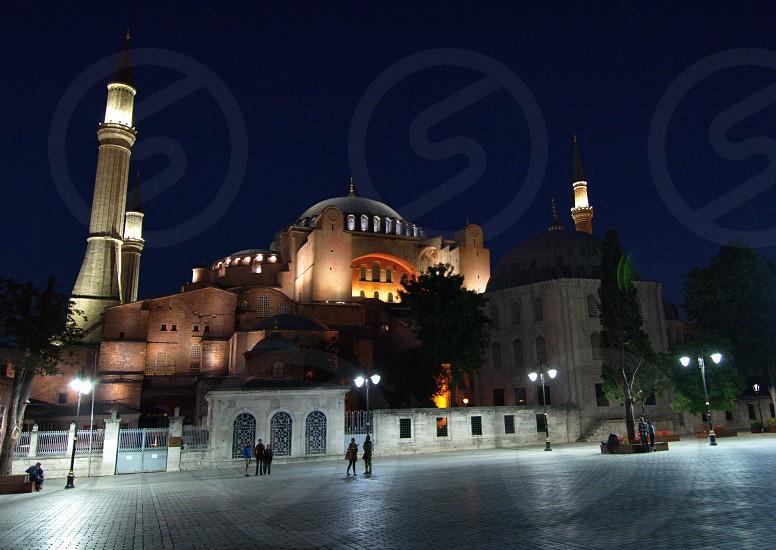 Saint Sophia by night.Istanbul photo