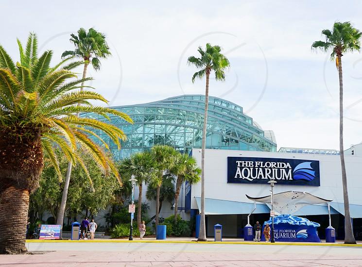 Entrance to Florida Aquarium in Tampa FL photo