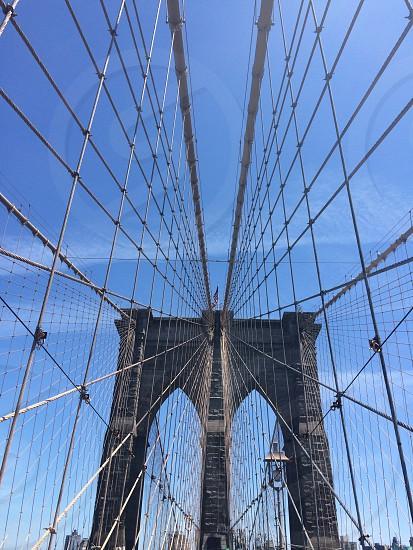 low angle photo of Brooklyn Bridge at day photo