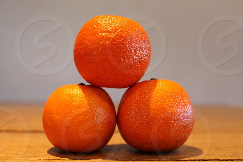 A stack of oranges photo