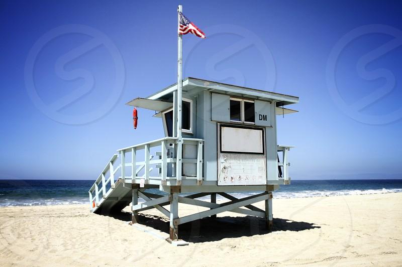 Beach lifeguard tower photo