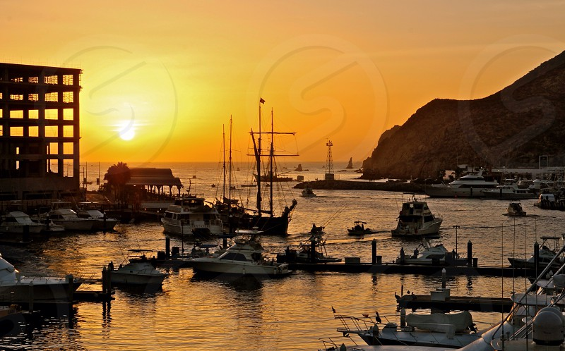 Harbor in cabo San Lucas  photo