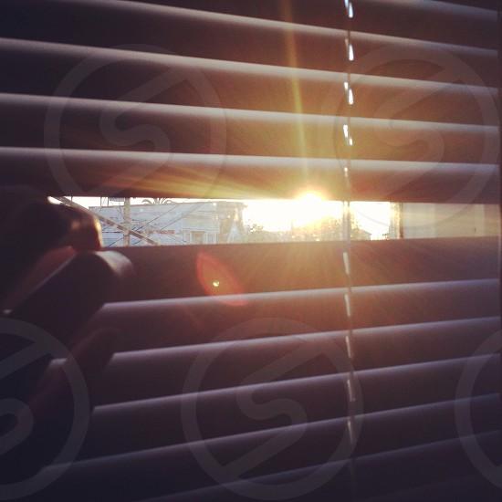white window blinds photo