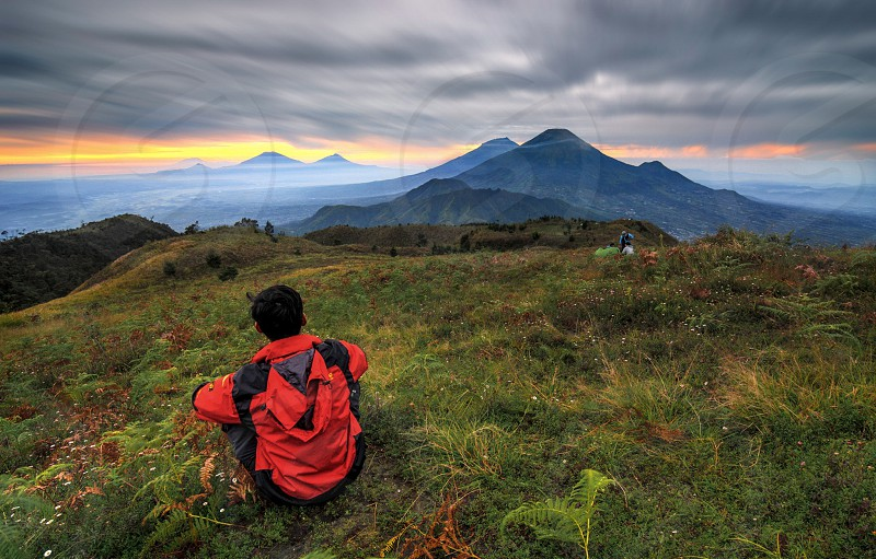 mount prau central java indonesia photo