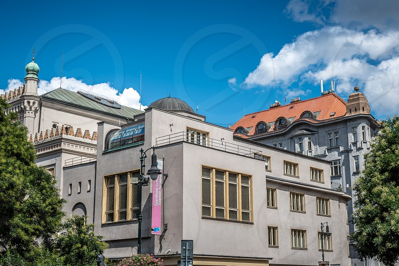 Outdoor view of the Spanish Synagogue of Prague photo