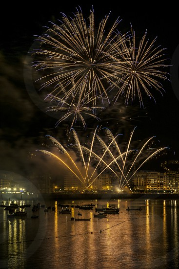 fireworks display during night time photo