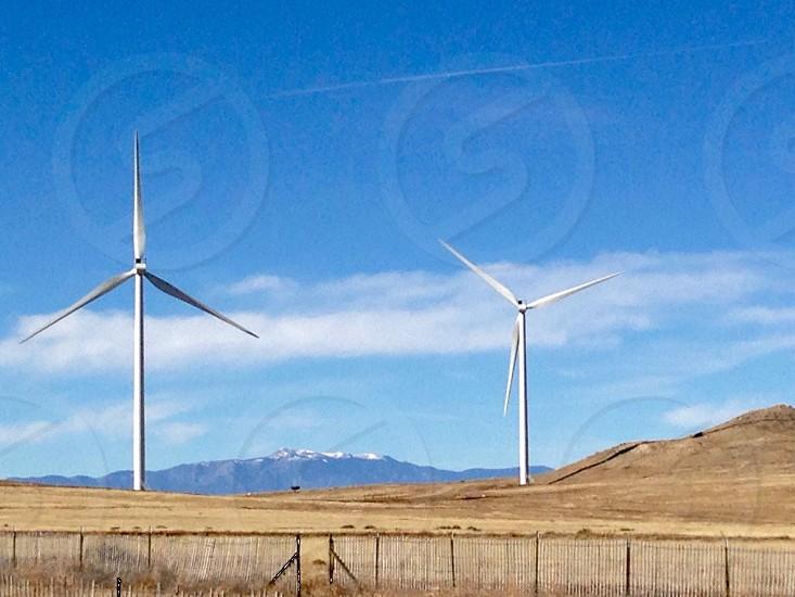 Wind farm clean energy wind turbine photo