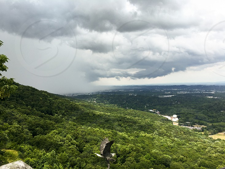 Rain Storm lookout Mountain Tennessee 7 states  photo
