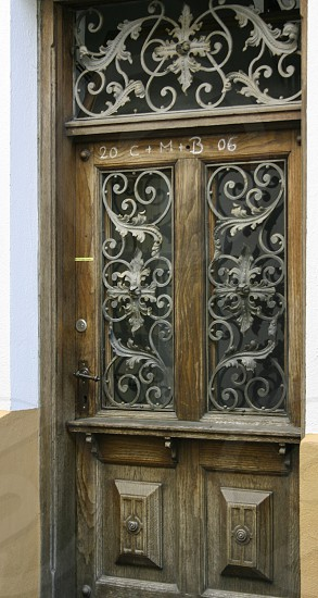 wood and metal door photo