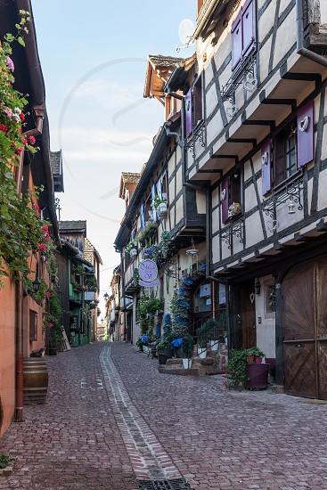Architecture of Riquewihr in Haut-Rhin Alsace France photo