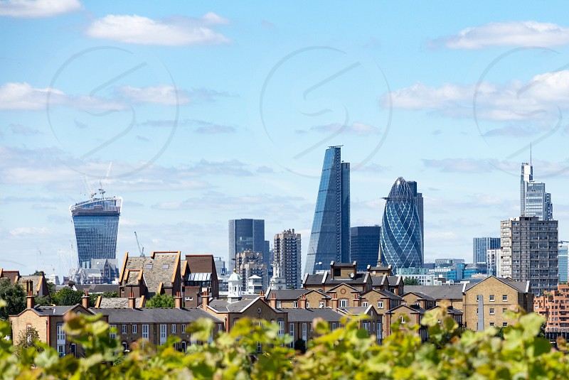 London's financial district as seen from Canary Wharf. photo