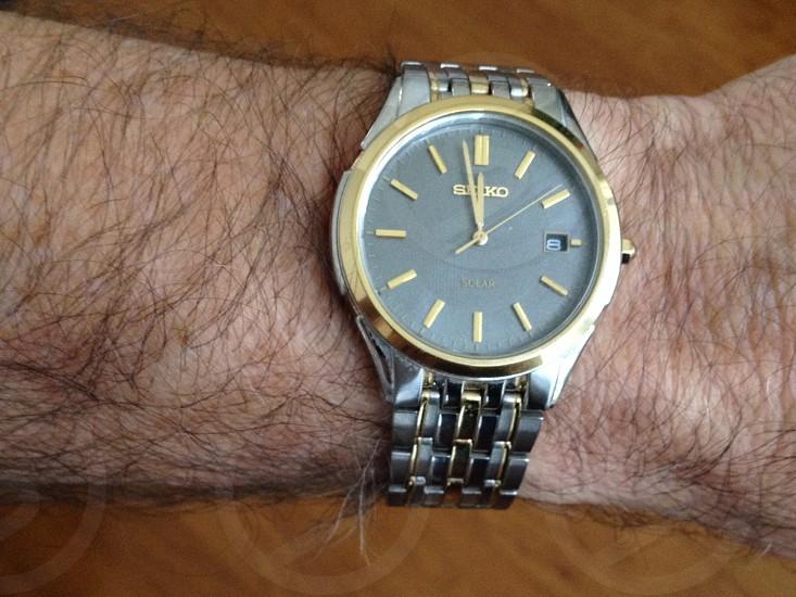 Time clock watch photo