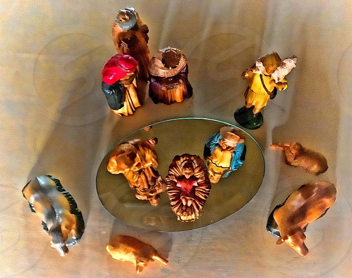 Aerial perspective of a small Nativity Scene photo