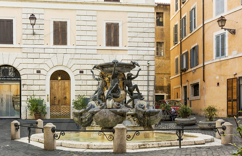 The Fontane delle Tartarughe (The Turtle Fountain) is a fountain of the late Italian Renaissance. It was built between 1580 and 1588 by the architect Giacomo della Porta and the sculptor Taddeo Landini photo