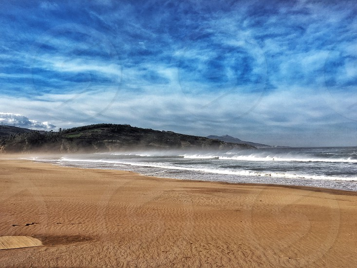 Beach peace relax sand basque country sea  photo