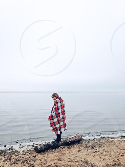 Woman and sea photo