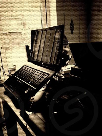 Laptop black@white photo