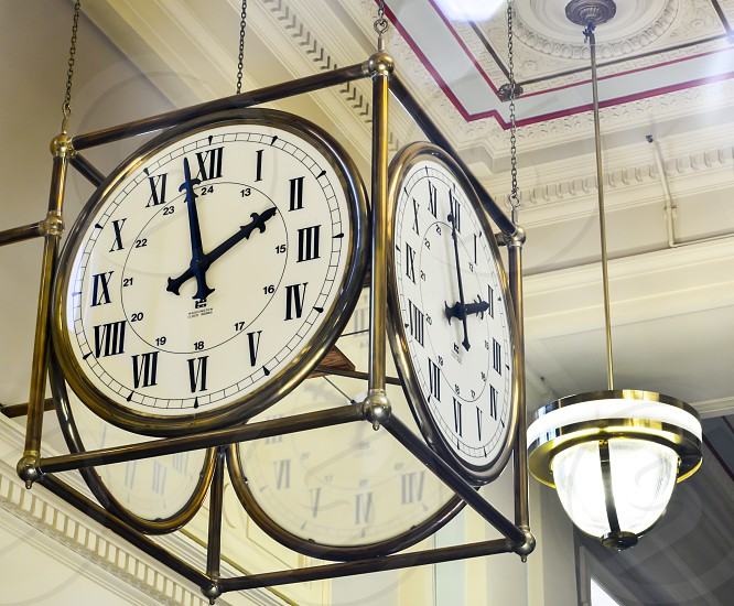 Clock bronze photo