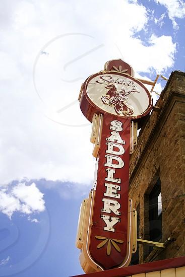 Saddle shop in Cody Wyoming. photo