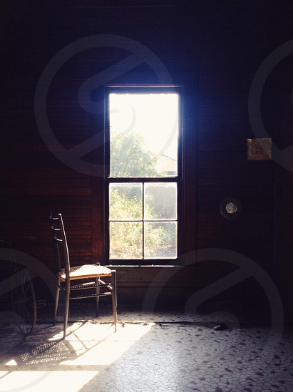 brown wooden chair  photo