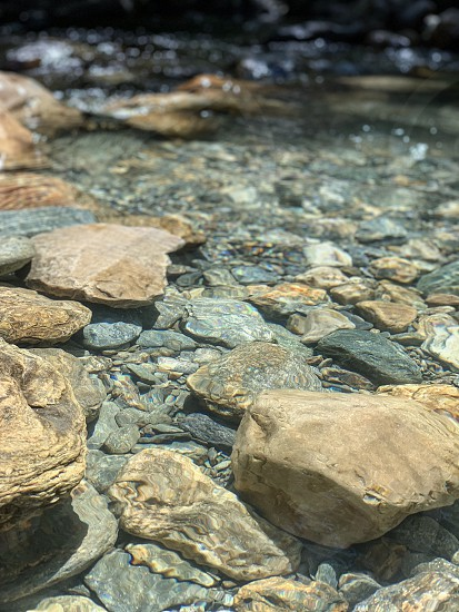 Color river green water flow rocks nature photo