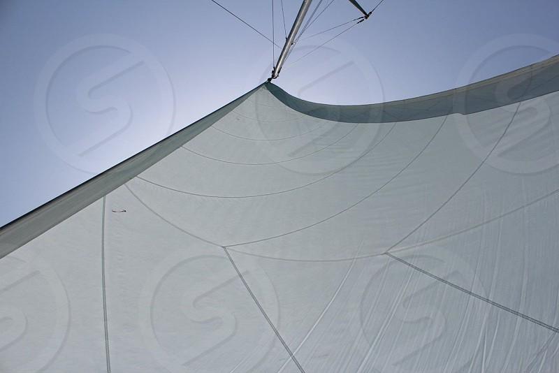 white sail from bottom photo