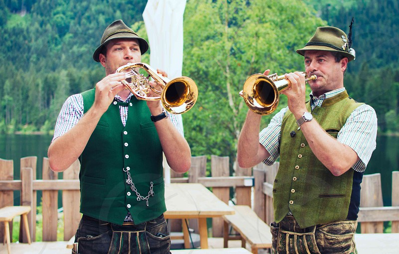 musicians; trumpet; traditional;  photo