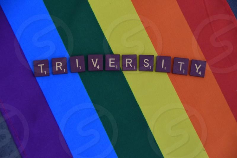 Triversity. LGBT Pride Rainbow flag photo