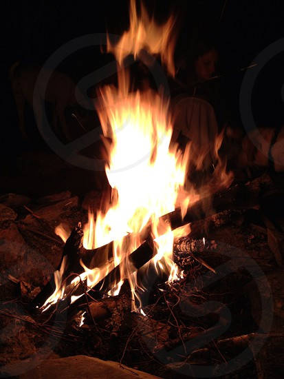 Fire bonfire nc mountains camping  photo