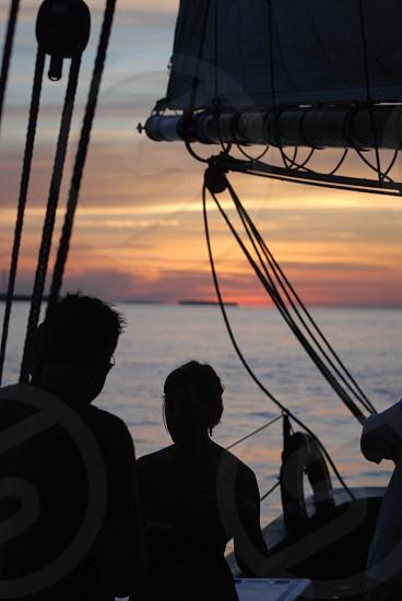 Evening sail. Key West Florida photo